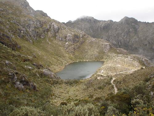 Laguna en el Páramo Pan de Azúcar